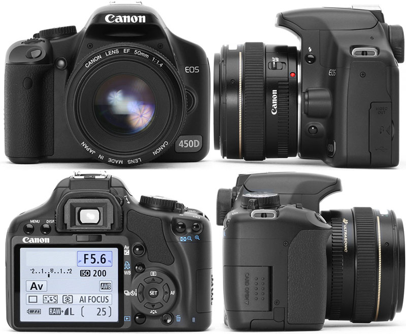 Canon EOS 450D (Rebel XSi) 18-55 Kit white box